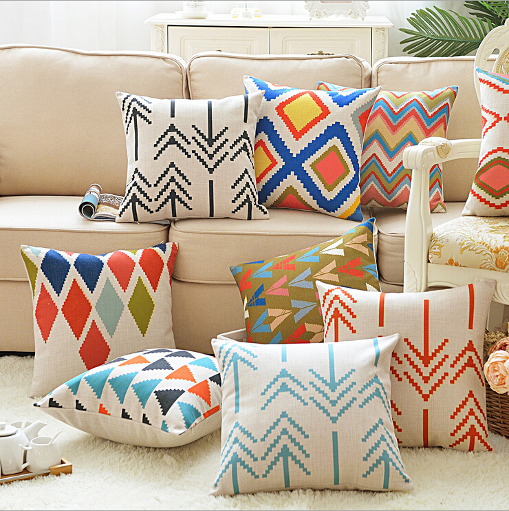 Fabulous Bright Colors Argyle Cushion Cover Zig Zag Cojines Arrow Pdpeps Interior Chair Design Pdpepsorg