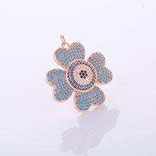 statement necklaces womens boho jewelry 2017 LATEST Design gold chain copper inlay blue CZ rhinestone flower necklace best deal