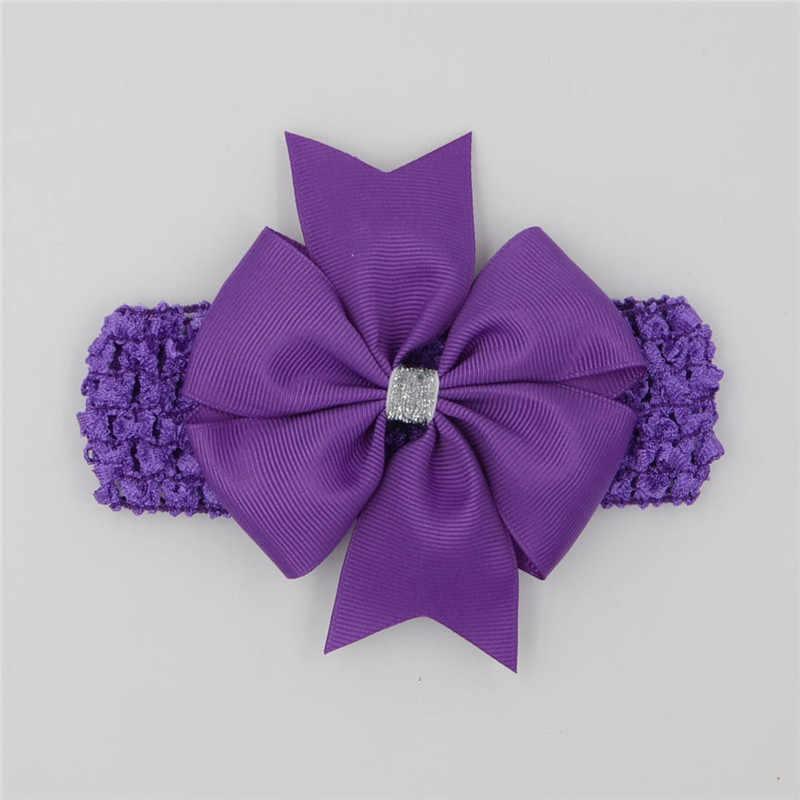 Classic fasce fasce elastiche dei capelli del nastro archi bambini testa wraps accessori lace satin flower hairband headwrap