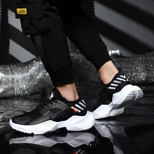 Image 3 - プラスサイズ 39 46 男性スニーカーカジュアルお父さん靴分厚い通気性軽量快適なトレーニングファッション男性靴 # ABG79