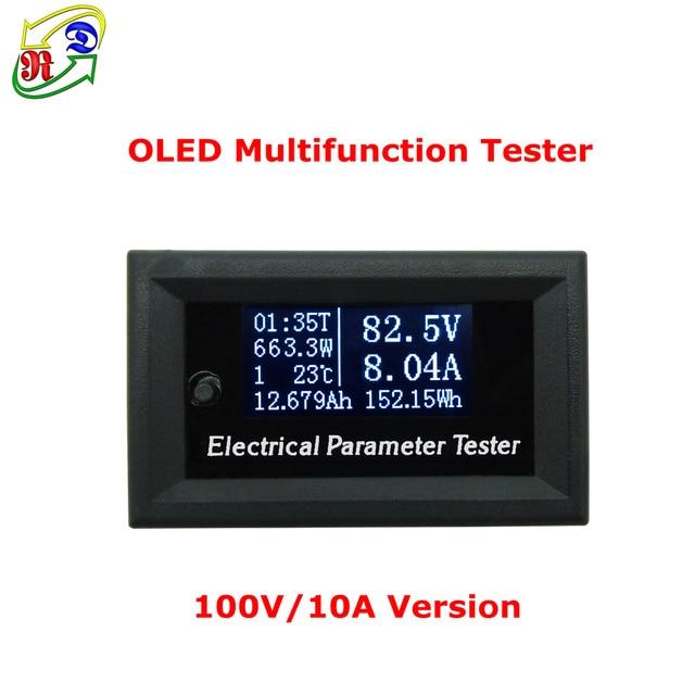 RD 100 В/33v10a 7in1 OLED Многофункциональный тестер Напряжение текущее время температура Емкость Вольтметр Амперметр электрический счетчик белый