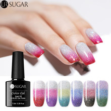 UR SUGAR 3 Colors Temperature Color Changing Gel Nail Polish Rainbow Holographic Thermal Soak Off UV Varnish 7.5ml Art