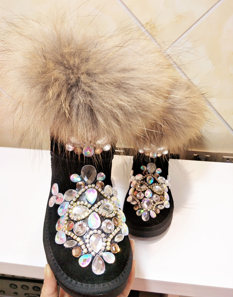 De Cinturón Zapatos En Mujeres Botas Nuevo Las hecho A Nieve Gran Caliente Trenza Super Cuero Con Invierno Algodón Tubo El Antideslizante Mano n5XTXdSvx