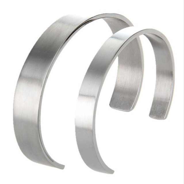 Stainless Steel Open Cuff Bangle Bracelets For Men Male, Can Engrave Any Language Words On it,Custom Name Bangles Monogram Words