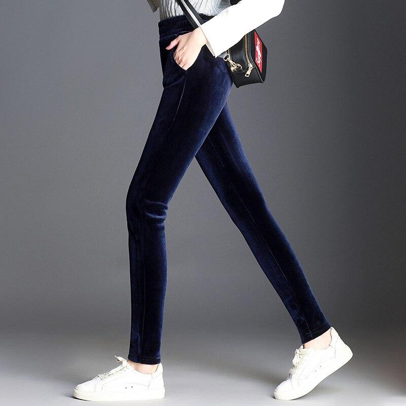 Winter Velvet Warm Leggings Women Plus Large Size 5XL 6XL Velour High Waist Pants Skinny Stretchy Casual Trousers For Female
