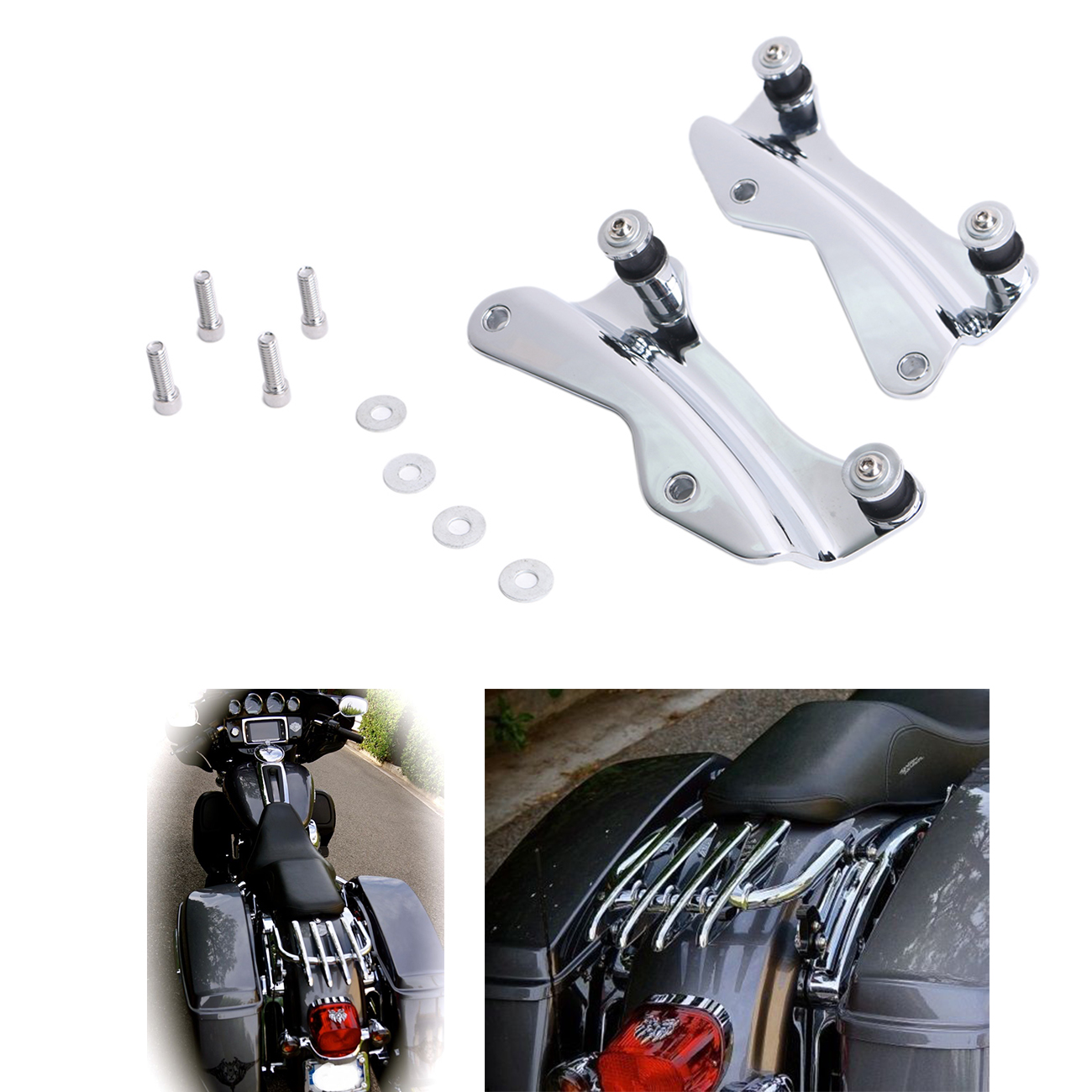 Billet Aluminum Motorcycle Chrome Docking Hardware Kit For Harley Touring Electra Glide Road King FLH FLT 2014-2017  #MBT241 meziere wp101b sbc billet elec w p