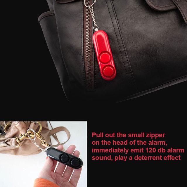 Women Pocket Anti-Rape Alarm Loud Alert Attack Panic