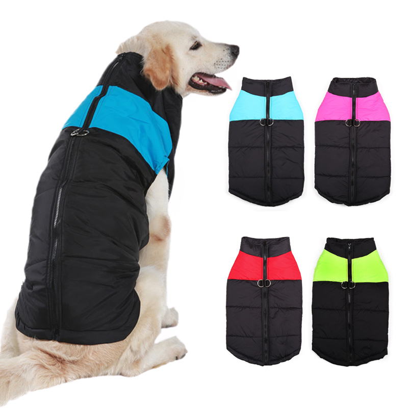 8 Size S-5xl Winter Dog Clothes For Pet Waterproof Warm Large Dog Vest Cat Puppy Dog Ski Coats Jackets Green/red/blue/pink