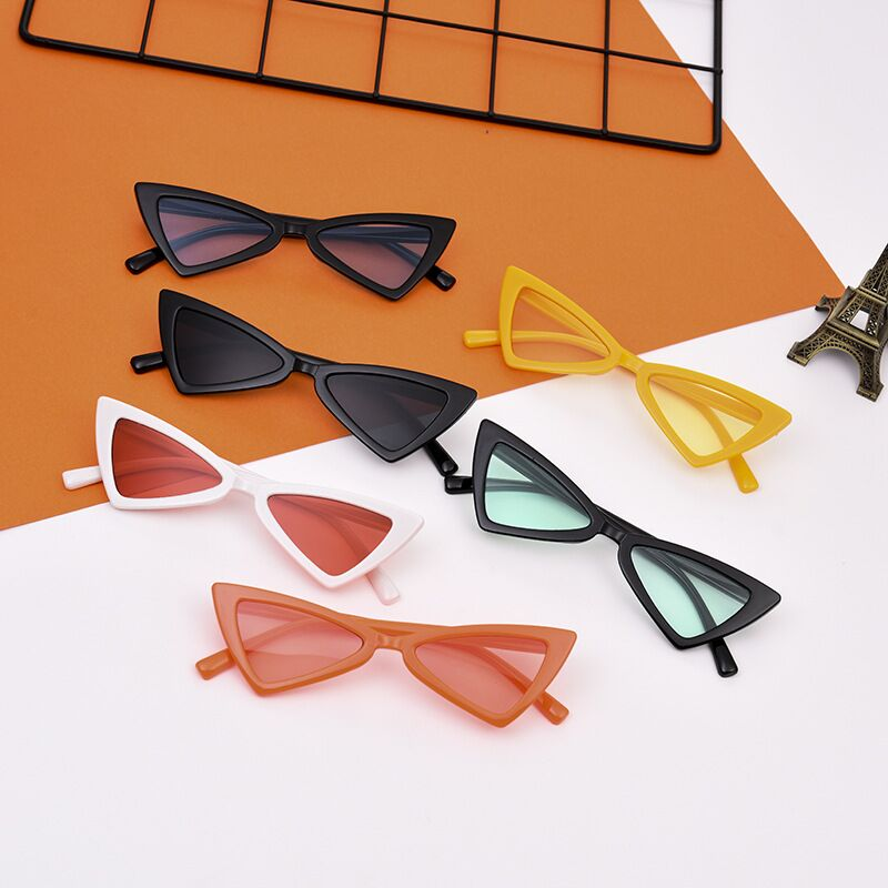 2018 Fashion Style Kids Vintage Cat Eye Children Sunglasses Triangle Shaped Boys&girls Brand Cute Sunglasses Baby Oculos 1470(China)
