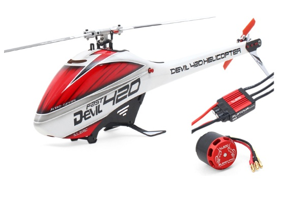ALZRC - Devil 420 Helicopter 420 FAST FBL Combo (Included 60A-V4 Brushless ESC and  BL3120 Motor ) - Silver - Standard alzrc devil 500 pro sdc dfc brushless esc motor carbon fiber structure 3300mah battery flybarless gyro system rc helicopter kit