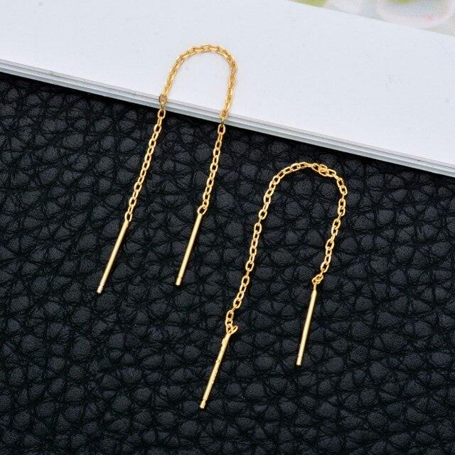 Купить серьги с золотым покрытием и кисточками длинные цепочки ювелирные