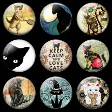 Keep Calm and Love Cats 30MM Fridge Magnet Cat Owner's Gift Glass Cabochon Magnetic Refrigerator Stickers Note Holder Home Decor(China)