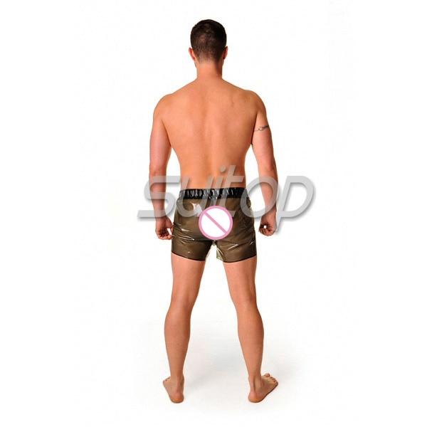 100% handmade sexy latex sportpants BOXER SHORTS