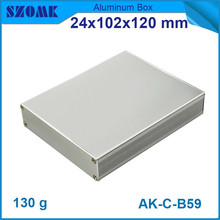10pcs/lot top sales aluminium housing enclosure in silver with powder coating 24*102*120mm