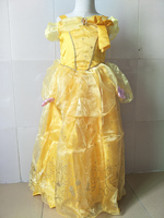 Kids Princess Rapunzel Belle Cinderella Sleeping Beauty Cosplay Costumes Halloween Girls Long Birthday Frock Designs