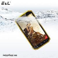 E&L W8 5.5 Inch 4G Smartphone 2GB RAM+16GB ROM Android 6.0 Quad Core Ip68 Shockproof Phone Dual Sim Unlocked Cell Phones