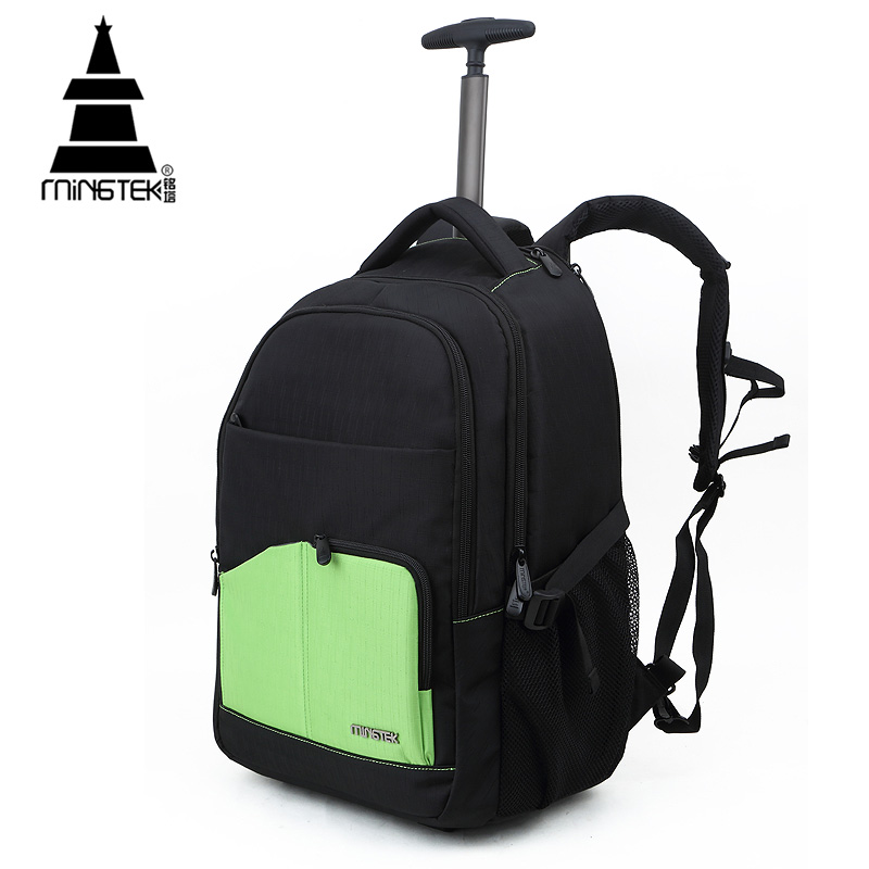 0b0ee76758 High Quality Travel Bag 30L Trolley 14 15 17 inch Rolling Luggage Laptop Duffel  Bag On Wheels Unisex Nylon Waterproof Backpack