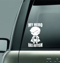 MY HERO HAS AUTISM decal sticker for car/truck/laptop(China (Mainland))