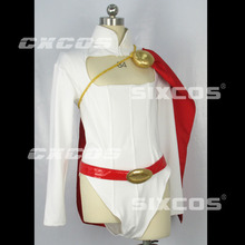 Game Anime Power Girl Figure Jumpsuit Sexy woman Karen Starr Shirt Sweater Dress Uniform Cosplay Costume Any Size NEW