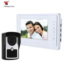 Yobang Security 7 inch Video intercom Door Phone System IR Camera Wired Door Bell System Outdoor Camera Calling Button Speaker