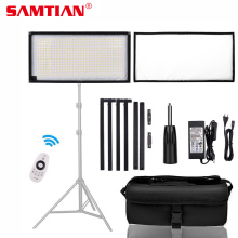 SAMTIAN FL-3060A Flexible LED Video Light Photography Light Dimmable 3200-5500K 30*60cm Panel Lamp Light For Studio Photo samtian 2sets led video light with tripod dimmable 3200 5500k 600 leds panel lamp for studio photo photography lighting