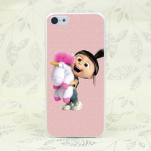 636F Minion My Unicorn Agnes fashion Hard Transparent Case Cover for iPhone 7 7 Plus 4