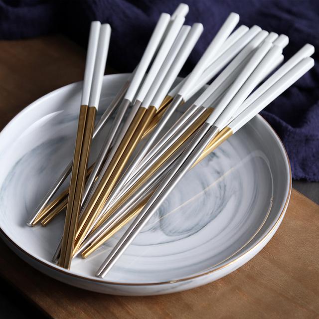 Stainless Steel Chopsticks 1 Pair 6 colors