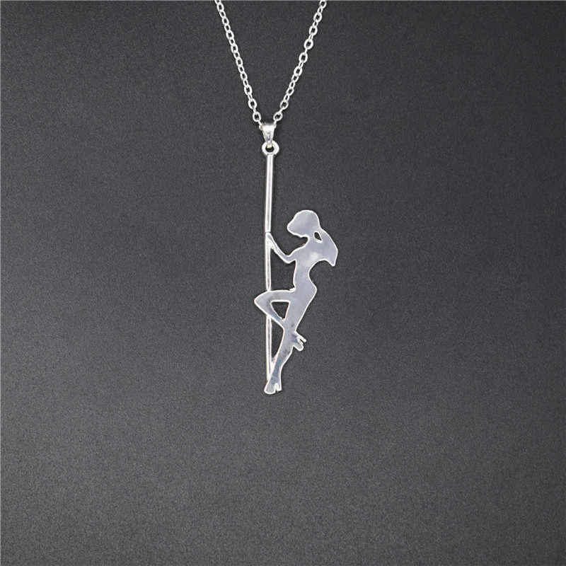 Elfin Trendy Pole Dancer Hanger Kettingen Strip Danser Silhouet Gift Voor Bachelorette Party Vrouwen Kettingen Sieraden