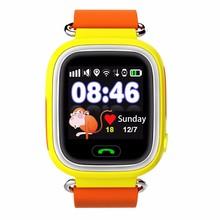 2016newเด็กsmart watchนาฬิกาข้อมือเด็กq90 wifiหน้าจอสัมผัสsosสถานที่ตั้งจีพีเอสติดตามเด็กปลอดภัยป้องกันการสูญเสียs mart w atch
