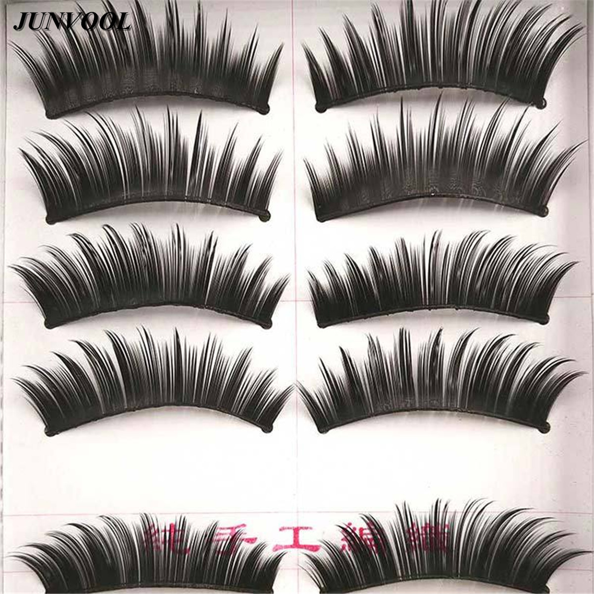 50 Pairs/Lot Long Black Thick False Fake Eyelashes Extension Lashes For Club Makeup Eye Lash Thick Long Beauty Tools For Women