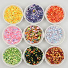 2000pcs with golden undertone 8mm Plum Blossom Cup Loose Sequins Paillette Sewing,Wedding Confetti Craft Garment