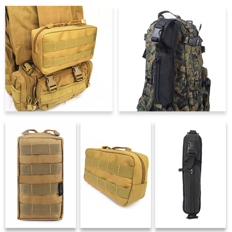 Tactical Molle Sundries Accessory Bag Shoulder Strap Bag Backpack EDC Tools Pouch Outdoor Hunting Hiking Travel Expansion Bags