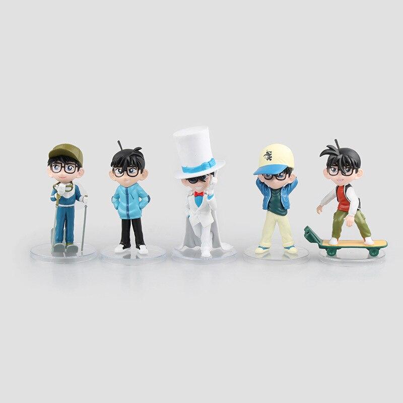 Toys & Hobbies 5 Pcs/set Anime Detective Conan Mini Action Figure Collection Skateboard Conan Model Collectible Toys Dolls Parent-child 12 Cm