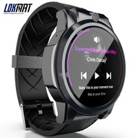 LOKMAT 3GB+32GB SmartWatch 4G Android 7.1 MTK6739 AMOLED Screen 610mah Battery Smart Watch Men GPS For Ios