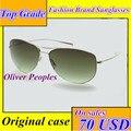 Oliver peoples óculos de sol pure titanium super luz uv lentes 12g óculos de sol dos homens polarizados aviador unissex óculos de sol
