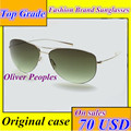 Pueblos oliver gafas de sol uv lentes titanium puro súper ligero 12g gafas de sol polarizadas de los hombres gafas de sol de aviador