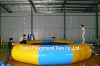 Диаметр 5 м надувные развлечения плавучий остров батут