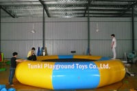 Diameter 5 meters inflatable Entertainment Floating Island trampoline