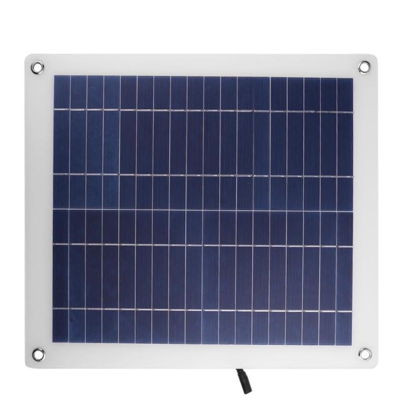 Alloyseed 23W 18V Polycrystalline Silicon Solar Panel Soalr Cells PVC Laminates Charger for 12V Car Battery