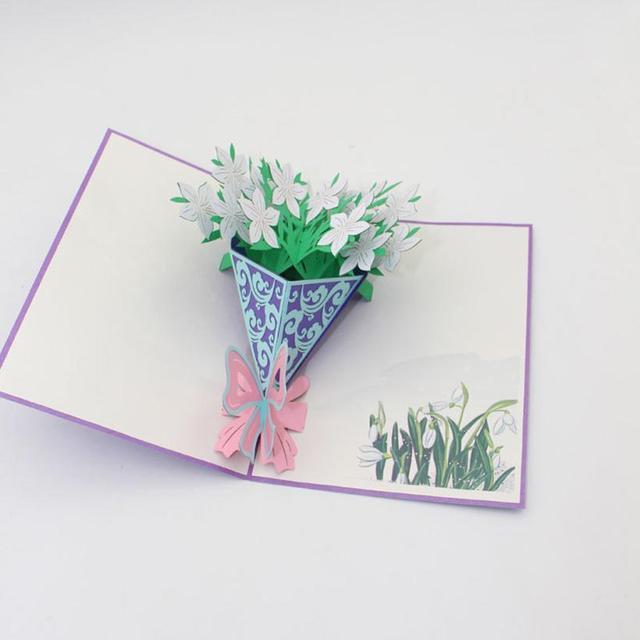 Origami Segnaposto Matrimonio.Vogue 3d Pop Up Wedding Cards Valentine Lover Happy Birthday