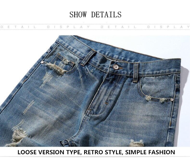 famous brand factory leather zipper jeans men deep blue slim straight pants masculina vaqueros trouse mid regular solid pencil 3