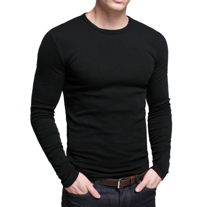f869e28664 men tshirt mens long-sleeve t shirt man t-shirt tops casual slim winter  lycra cotton o-neck basic tshirts t-shirts