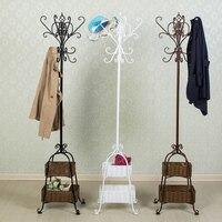 K/D European iron coatrack hanger floor bedroom clothes hanger coatrack hanger hanger bag mail landing