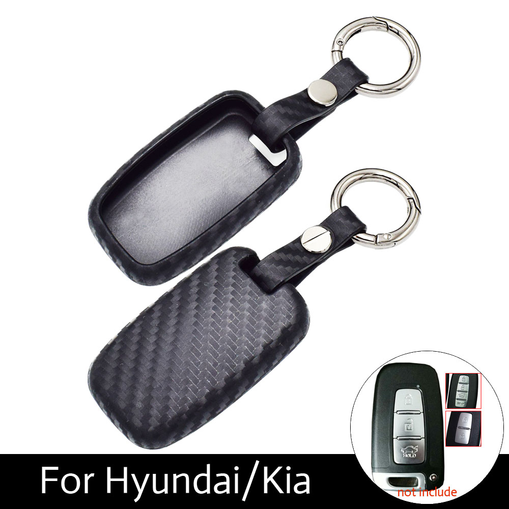 Atobabi Carbon Fiber Pattern Silicone Protection Key Cover Case For Kia Shuma Fuse Box K5 Sportage Sorento Forte Borrego With Rings In Car From