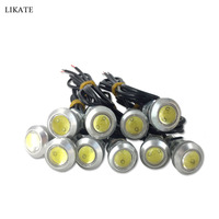10x 9W Eagle Eye LED 18mm Car Fog DRL Daytime Reverse Backup Parking Signal White Bulb