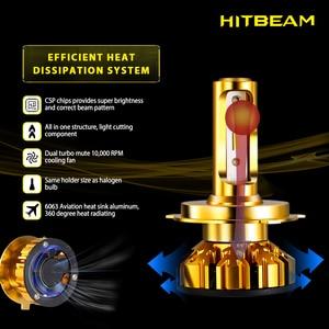 Image 3 - مصباح أمامي مصغر فائق السطوع للسيارة H7 H4 H11 led H1 لمبة HB3 9005 HB4 9006 H3 H8 60 واط 12000lm مصباح أمامي للسيارة 6500K