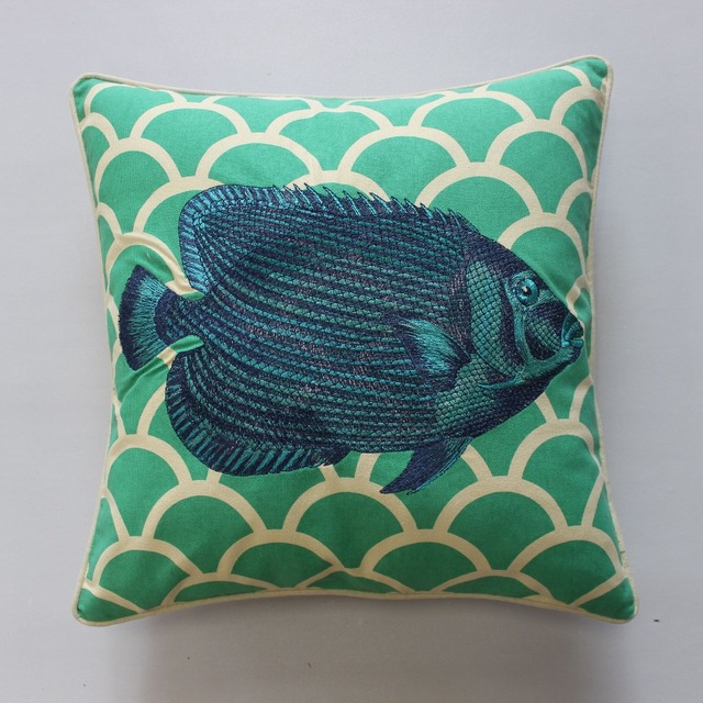 US $18.99 |VEZO HOME embroidered green fish cotton linen modern sofa  cushions throw pillows seat chair home decoration pillowcase 18x18"|640|640|?|e41ac0e90d807b3affdb0529cbce0501|False|UNLIKELY|0.3344234228134155