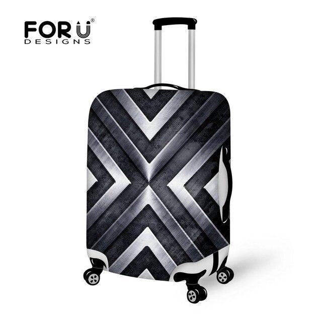 3D печать упругой туристические аксессуары для 18 - 30 дюймов чемодан черный-серый пылезащитной щепка багажа защитную крышку чемодан обложки