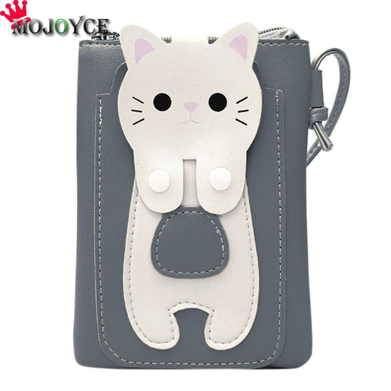Women Small Sling Wallet Kitten Square Purse Shoulder Bag Cell Phone Mini Bag PU Leather Girls Lovely Casual Soft Crossbody Bag все цены