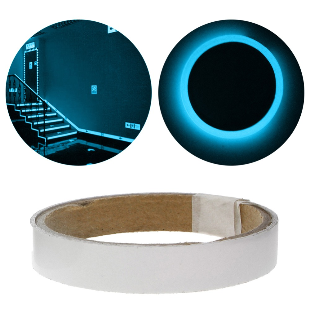 2cm*1m Luminous Fluorescent Night Self-adhesive Glow In The Dark Sticker Tape Safety Security Home Decoration Warning Tape